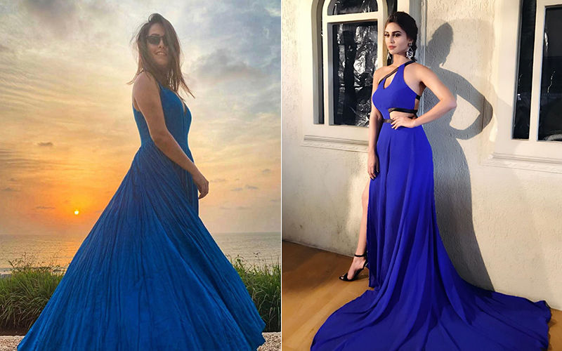 Ditto Ditto! Anita Hassanandani And Krystle D'Souza Are Bleeding Blue In The Same Maxi Gown