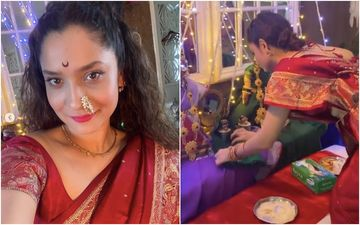 Ganesh Chaturthi 2020: Ankita Lokhande Shares Videos Performing Gauri Pujan And Mahalaxmi Pooja At Home – Watch