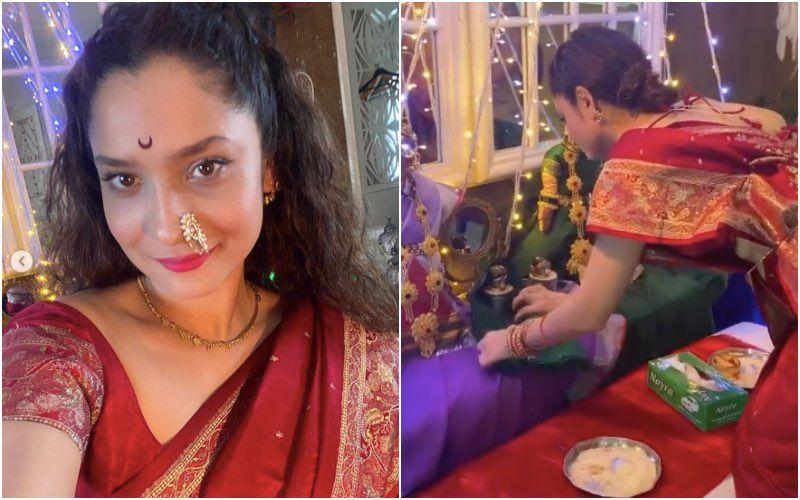 Ganesh Chaturthi 2020: Ankita Lokhande Shares Videos Performing Gauri Pujan And Mahalaxmi Pooja At Home – Watch