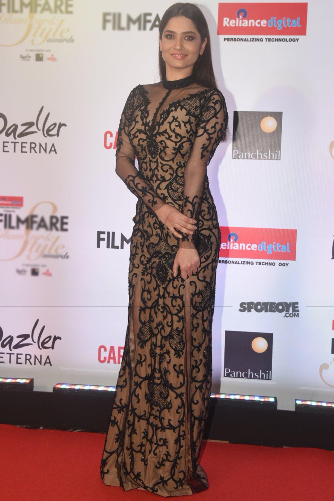 ankita lokhande at filmfare glamour and style awards
