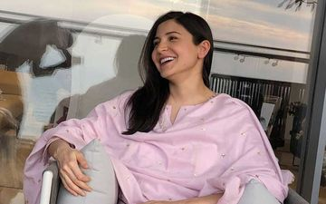 Preggers Anushka Sharma Looks Alluring In A Pastel Pink Dress For Her Chai Time; Credits Father For Clicking Candid Picture