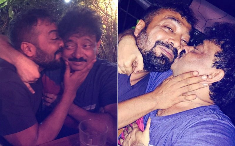 OMG! Ram Gopal Varma And Anurag Kashyap Kiss In Public