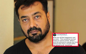 "Anurag Kashyap Quits Twitter Alleging Threats To Daughter And Parents, Says ""Thugs Will Rule And Thuggery Will Be The New Way Of Life"""