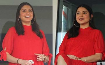 IPL 2020: Preggers and Glowing Anushka Sharma Cheers For Hubby Virat Kohli Looking Cute As Tomato In A Red Dress – View Pics