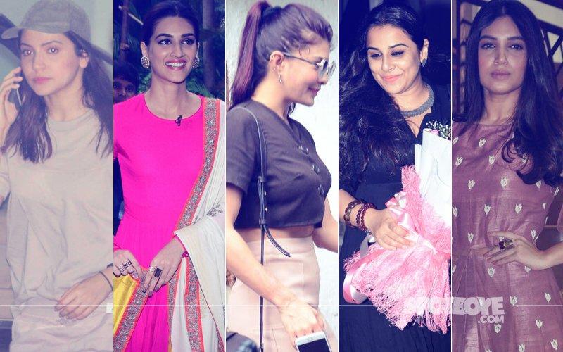 STUNNER OR BUMMER: Anushka Sharma, Kriti Sanon, Jacqueline Fernandez, Vidya Balan Or Bhumi Pednekar?