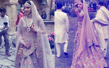 Anushka Sharma's WEDDING DRESS: Guess How Many Karigars & Days Were Required To Complete Mrs Kohli's Lehenga?