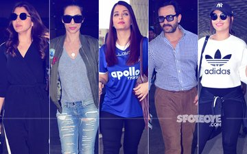 Airport Diaries: Anushka Sharma, Malaika Arora, Aishwarya Rai Bachchan, Saif Ali Khan & Sonakshi Sinha Spotted