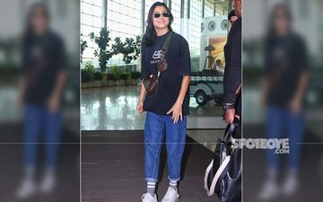 Anushka Sharma's Hair Go Messy As The Actress Is In Her Element Best; Her Casual Airport Look Is On Point