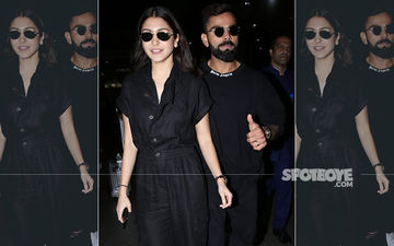 Power Couple Anushka Sharma and Virat Kohli Twin In All-Black As They Get Snapped At Airport