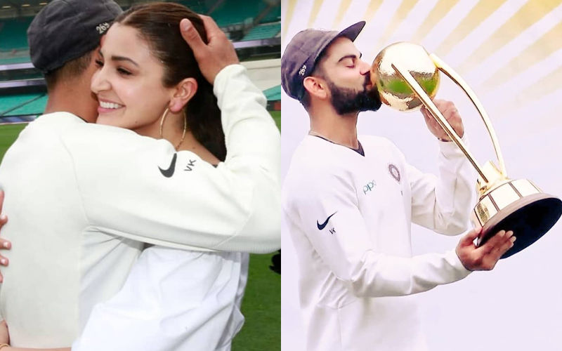 Anushka Sharma Leaps With Joy And Hugs Virat Kohli On Field After India's Historic Win Against Australia- Watch Video