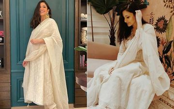 Diwali 2020: Mom-To-Be Anushka Sharma Looks Radiant In White, Says She 'Got All Dressed Up To Sit At Home And Eat'- PICS
