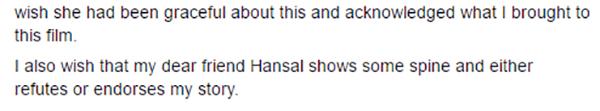 writer apurva ansari speaks up about the Simran writer credit controversy post split with hansal mehta
