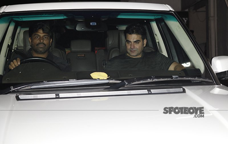 arbaaz khan at dad at salim khan s birthday bash