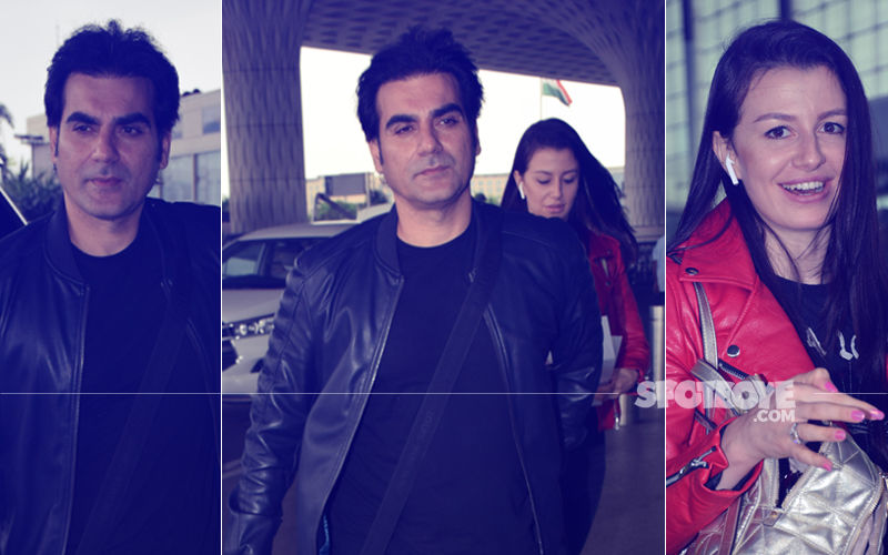 Off On A Romantic Holiday? Arbaaz Khan & Girlfriend Georgia Spotted Entering Mumbai Airport