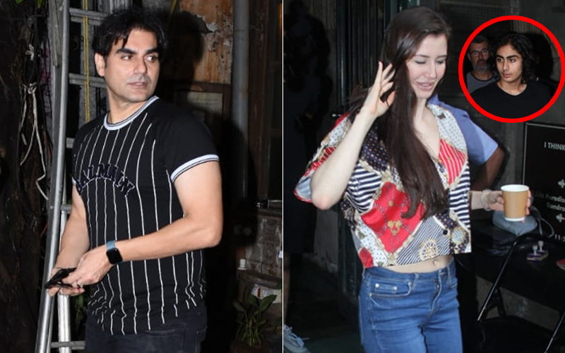 Awkward! Arbaaz Khan's Girlfriend Giorgia Andriani Walks Away Even As The Actor And His Son Arhaan Wait For Her - Watch Video
