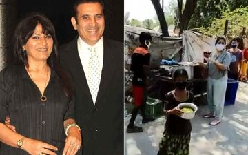 Archana Puran Singh-Parmeet Sethi Serve Food To The Underprivileged Amid Lockdown; Neena Gupta Lauds Them For Charitable Work-VIDEO
