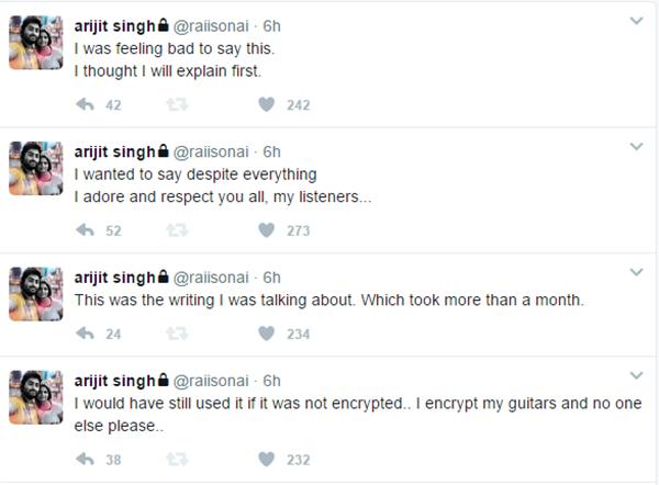 arijit singh more tweets