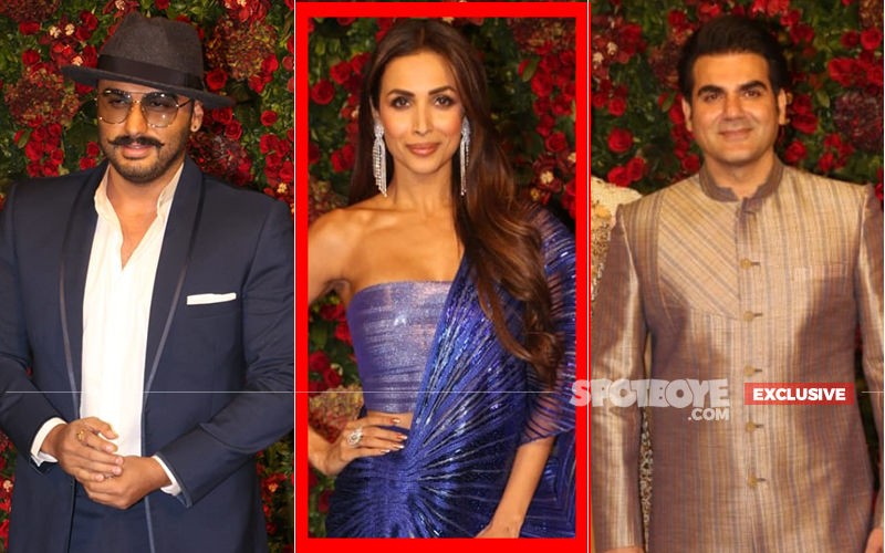 Arjun Kapoor And Arbaaz Khan Ignore Each Other At DeepVeer Bash, Courtesy Malaika Arora