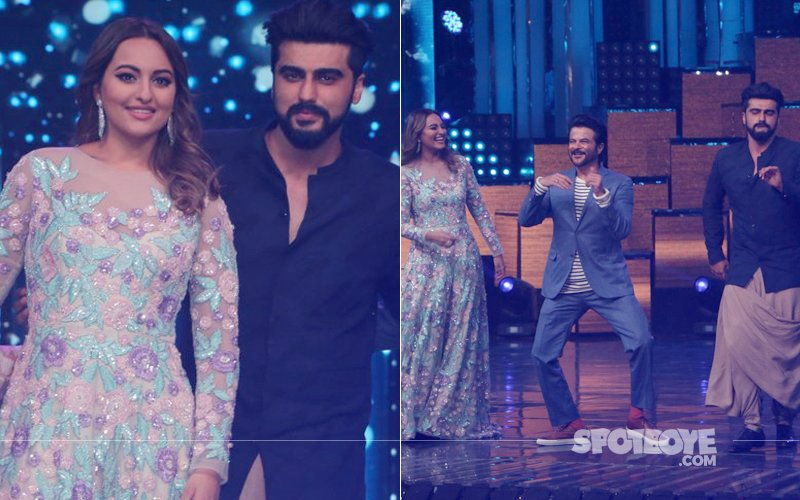 Ex-Lovers Arjun Kapoor & Sonakshi Sinha 'Bond' On-The-Sets Of Nach Baliye 8