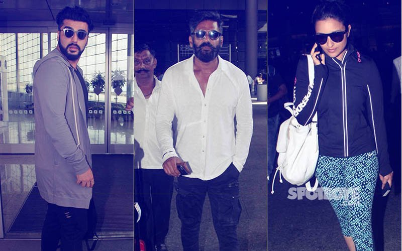 SPOTTED: Arjun Kapoor, Suniel Shetty, Parineeti Chopra And Co. At The Airport