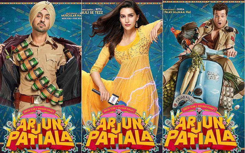 Arjun Patiala First Look Posters: Meet Diljit Dosanjh Aka Arjun, Kriti Sanon Aka Ritu And Varun Sharma Aka Onida Singh