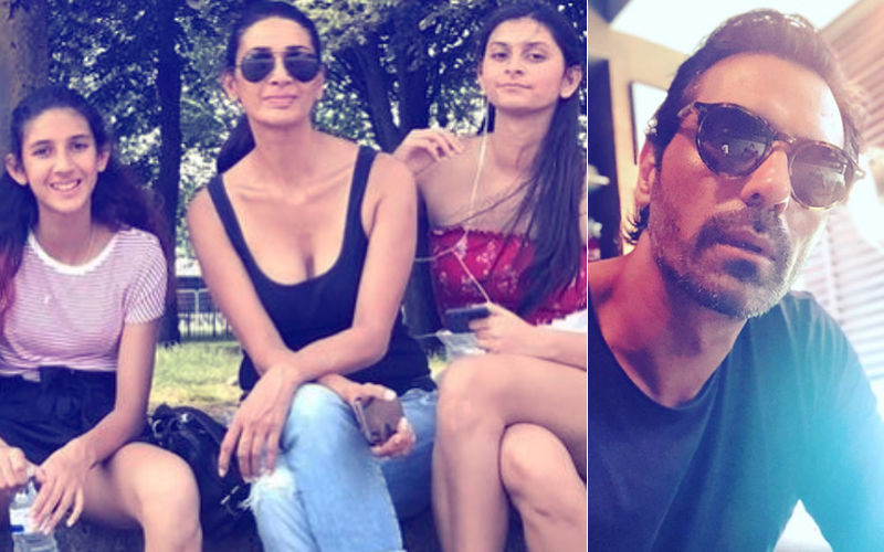 Estranged Couple, Arjun Rampal & Mehr Jesia Play Perfect Parents; Vacay With Daughters In Paris