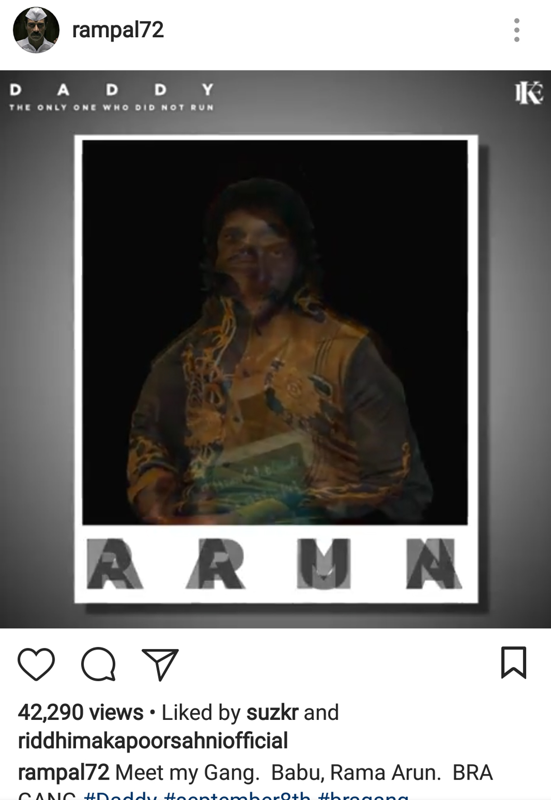 arjun rampal instagram post which sussane khan liked