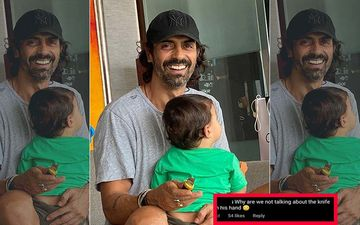 Fan Notices A Knife In Arjun Rampal's Hand While Posing With His Son Arik; Actor Explains To A Troll And Says 'Hope You Are Calmer Now'