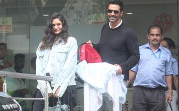 अपने बच्चे के हाथ को पकड़े हुए अर्जुन रामपाल और गैब्रिएला ने शेयर की बेहद प्यारी तस्वीर