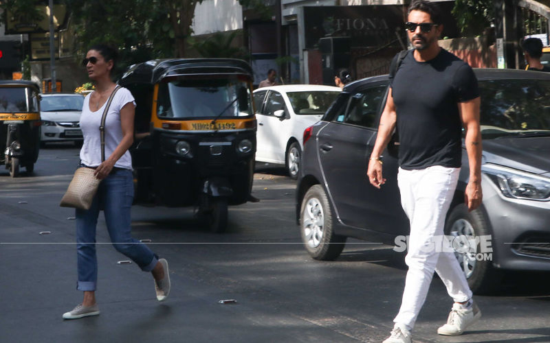 After Announcing GF Gabriella's Pregnancy, Arjun Rampal Spotted With Wife Mehr At A Bank