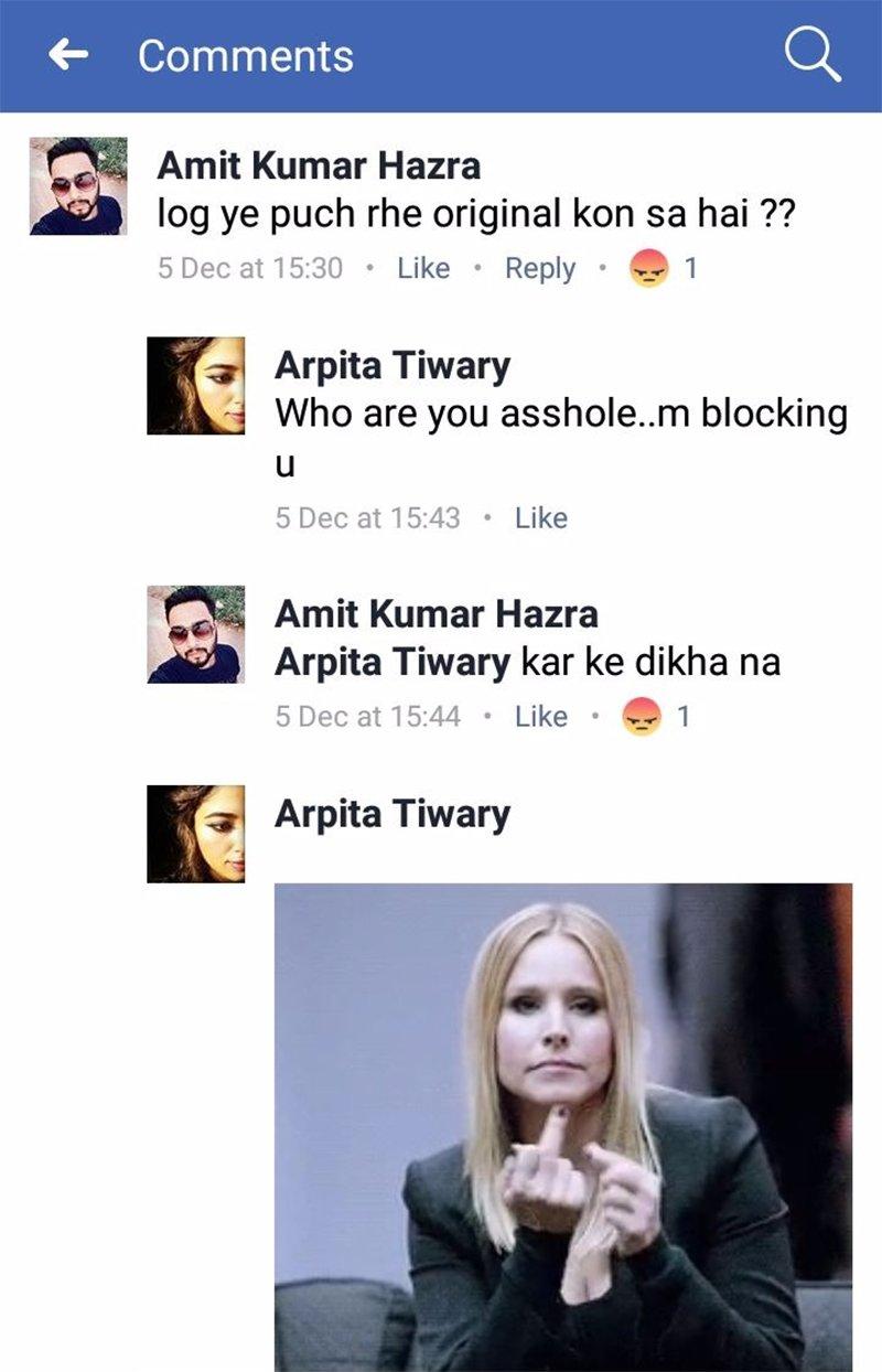 arpita tiwari facebook post