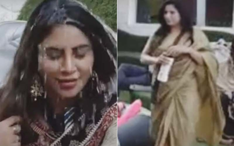 Bigg Boss 14: Arshi Khan Fumes In Anger After Sonali Phogat Throws Water On Her- Watch Video