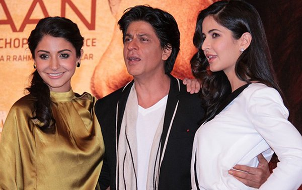 shah rukh khan with anushka sharma and katrina kaif