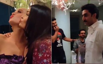 Katy Perry-Aishwarya Rai Bachchan Are Pout Queens In This Selfie; Abhishek Bachchan's Expression Is Unmissable- BTS VIDEO