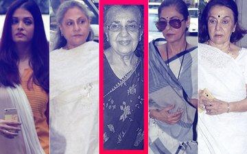 Aishwarya Rai, Jaya Bachchan, Dimple Kapadia, Asha Parekh Attend Shammi Aunty's Prayer Meet