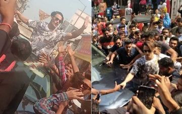 Asim Riaz Gets Mobbed By Fans During Salon Inauguration In Chandrapur; Ocean Of Fans Gather Outside To Get A Glimpse Of The Bigg Boss 13 Contestant