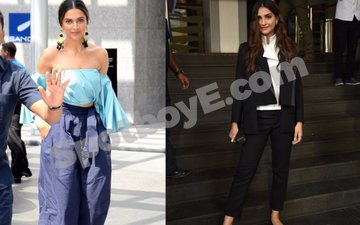 Deepika opts for chicken wing sleeves; Sonam's got a sharp look