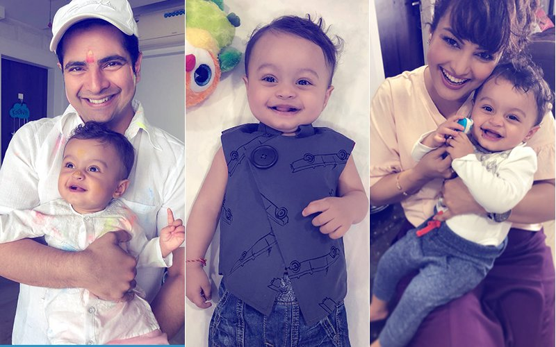 Pics: Karan Mehra & Nisha Rawal Celebrate Their Baby Boy's #HappyFirstTeeth