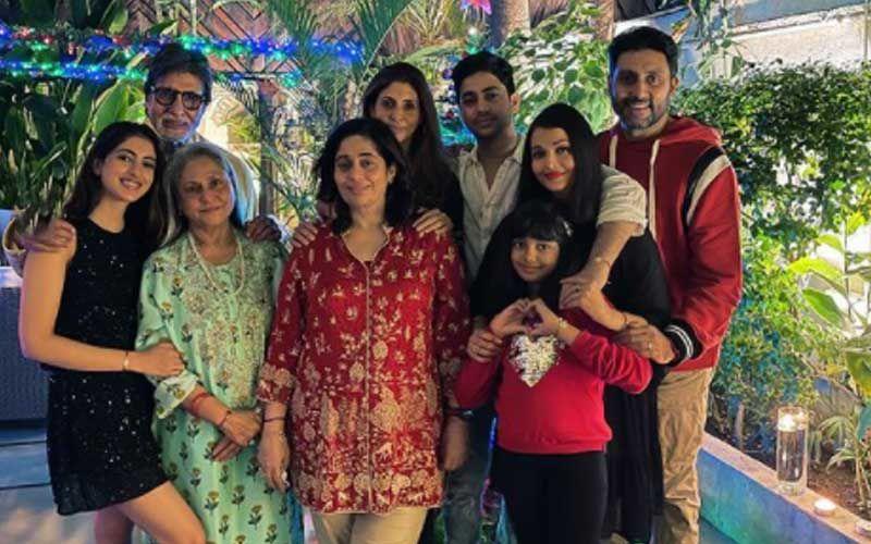 Merry Christmas 2020: Navya Nanda Drops Pictures Of Bachchan Parivaar's Xmas Dinner; Aishwarya, Abhishek, Aaradhya, Big B, Jaya Bachchan All In One Frame