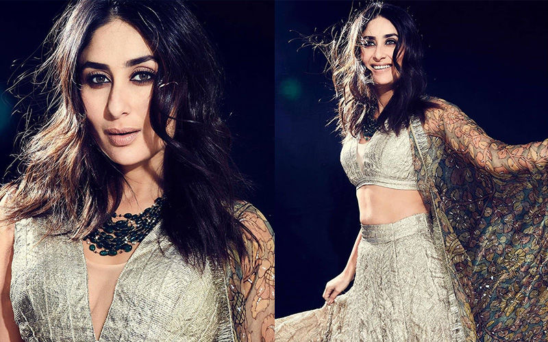Kareena Kapoor Khan Looks Like A Vision In A Silver Crushed Zari Lehenga, But It's Her Adaayein That Scream For Attention