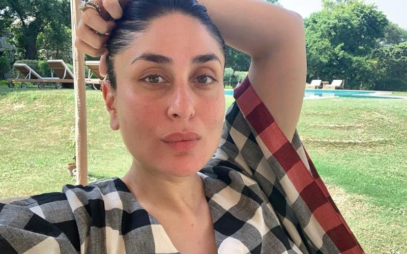 Heavily Pregnant Kareena Kapoor Khan Sports An Easy Breezy Maternity Look; Flaunts Her Massive Baby Bump In A Loose Dress And Her Fave Pink Slippers - PIC