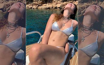 Bella Thorne Says She Isn't Ready For The Year To End As She Posts A Hot Silver Shimmery Bikini Pic
