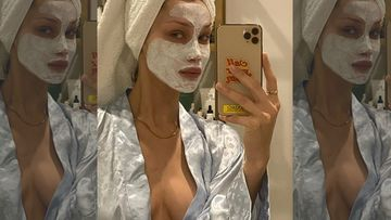 Bella Hadid Does Some Self-Pampering On 'A Beautiful Sunday', Puts Her Sultry Neckline On Display