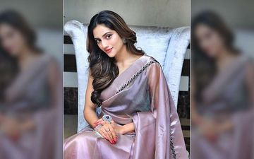 Actress Nusrat Jahan Creates Her Own Mask In Quarantine Days