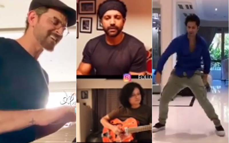 I For India: Hrithik Roshan Plays The Piano While Singing; Farhan Akhtar  Jams With The Boys, Varun Dhawan Busts Some Cool Moves - VIDEOS