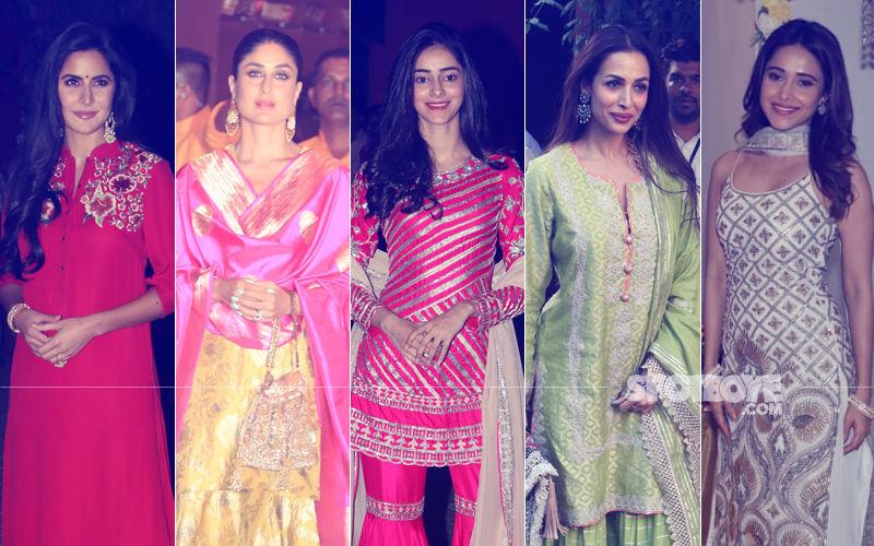 BEST DRESSED & WORST DRESSED At Ganesh Chaturthi Celebrations: Katrina Kaif, Kareena Kapoor, Ananya Panday, Malaika Arora Or Nushrat Bharucha?
