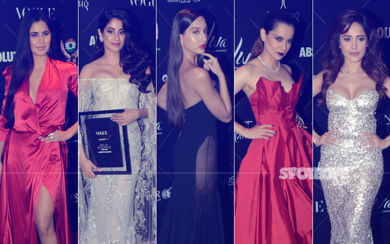 BEST DRESSED & WORST DRESSED At Vogue Beauty Awards, 2018:  Katrina Kaif, Janhvi Kapoor, Nushrat Bharucha, Nora Fatehi Or Kangana Ranaut?