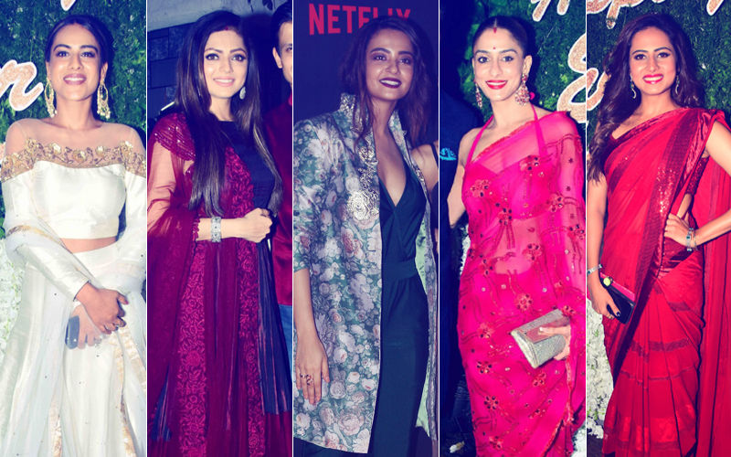 BEST DRESSED & WORST DRESSED At Rubina Dilaik-Abhinav Shukla's Reception: Nia Sharma, Drashti Dhami, Surveen Chawla, Shilpa Saklani Or Sargun Mehta?