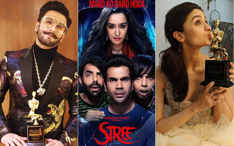 Star Screen Awards 2018 Winners List: आलिया भट्ट और रणवीर सिंह को मिला बेस्ट एक्टर्स का अवार्ड तो स्त्री बनी बेस्ट फिल्म