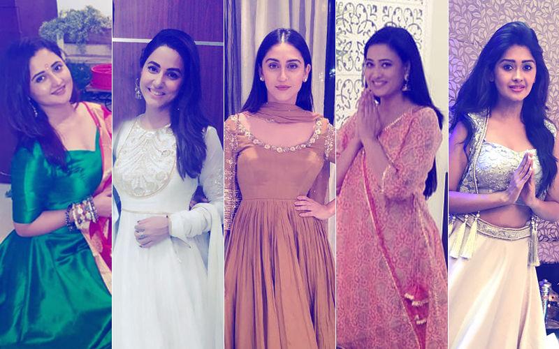 BEST DRESSED & WORST DRESSED TV Actresses During Ganesh Utsav: Rashami Desai, Hina Khan, Krystle D'Souza, Shweta Tiwari Or Kanchi Singh?